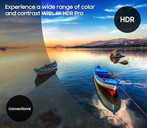 4K HDR wide colors & contrast